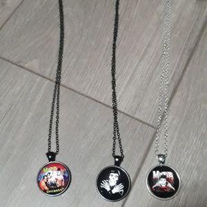 New the misfits punk necklace bundle
